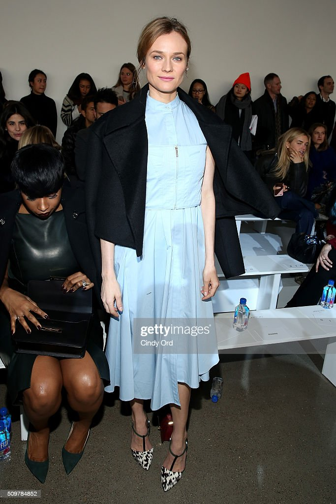 Actress <a gi-track='captionPersonalityLinkClicked' href=/galleries/search?phrase=Diane+Kruger&family=editorial&specificpeople=202640 ng-click='$event.stopPropagation()'>Diane Kruger</a> attends the Jason Wu Fall 2016 fashion show during New York Fashion Week at Spring Studios on February 12, 2016 in New York City.