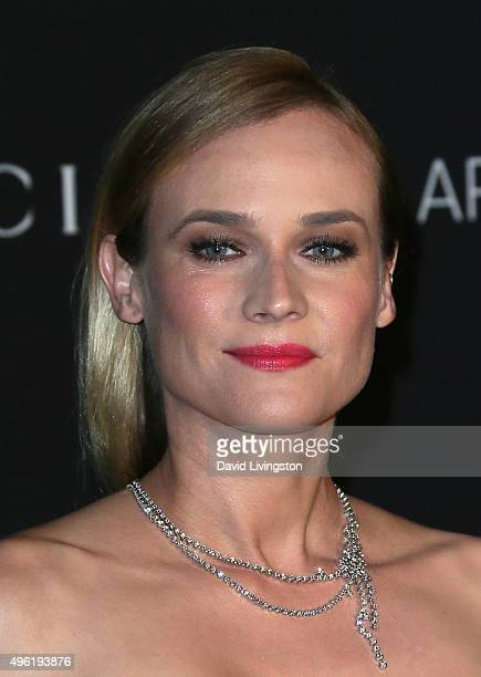 Actress Diane Kruger attends the LACMA Art Film Gala honoring Alejandro G Iñárritu and James Turrell and presented by Gucci at LACMA on November 7...