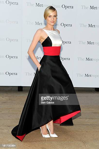 Actress Diane Kruger attends the Metropolitan Opera season opening production of 'Eugene Onegin' at The Metropolitan Opera House on September 23 2013...