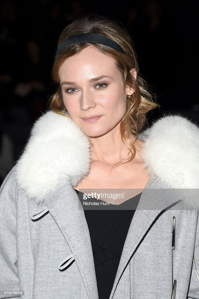 Actress <a gi-track='captionPersonalityLinkClicked' href=/galleries/search?phrase=Diane+Kruger&family=editorial&specificpeople=202640 ng-click='$event.stopPropagation()'>Diane Kruger</a> attends the Prabal Gurung Fall 2016 fashion show during New York Fashion Week: The Shows at The Arc, Skylight at Moynihan Station on February 14, 2016 in New York City.