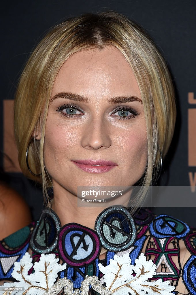 Actress <a gi-track='captionPersonalityLinkClicked' href=/galleries/search?phrase=Diane+Kruger&family=editorial&specificpeople=202640 ng-click='$event.stopPropagation()'>Diane Kruger</a> attends the premiere of FX's 'The Bridge' at Pacific Design Center on July 7, 2014 in West Hollywood, California.