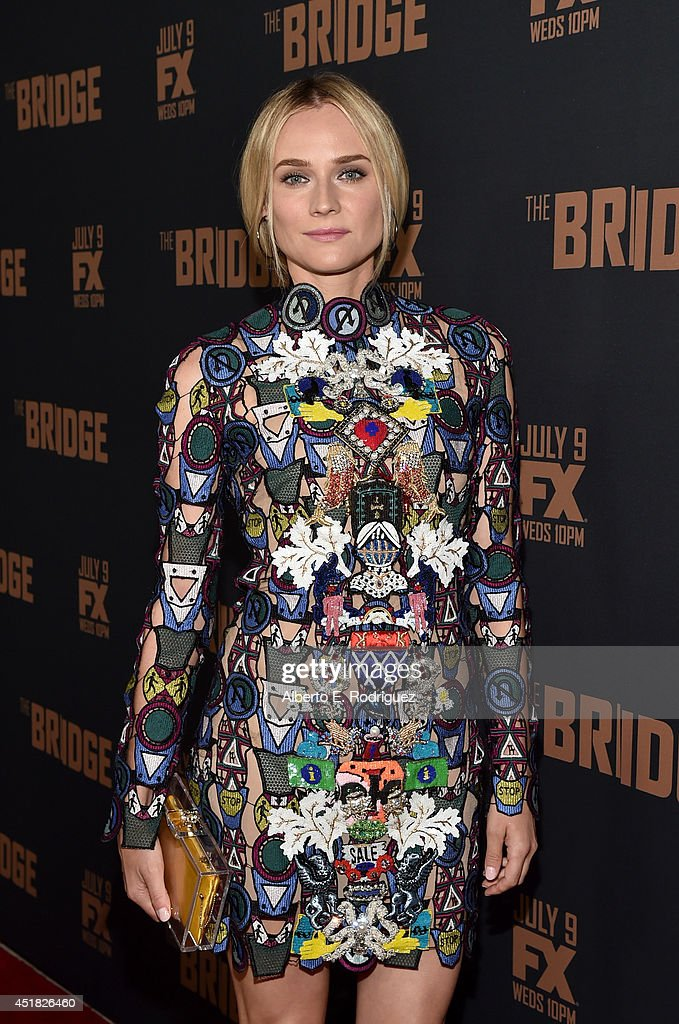 Actress Diane Kruger attends the premiere of FX's 'The Bridge' at Pacific Design Center on July 7, 2014 in West Hollywood, California.