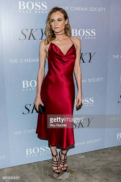 Actress Diane Kruger attends the premiere of IFC Films' 'Sky' hosted by The Cinema Society and Hugo Boss at Metrograph on April 14 2016 in New York...