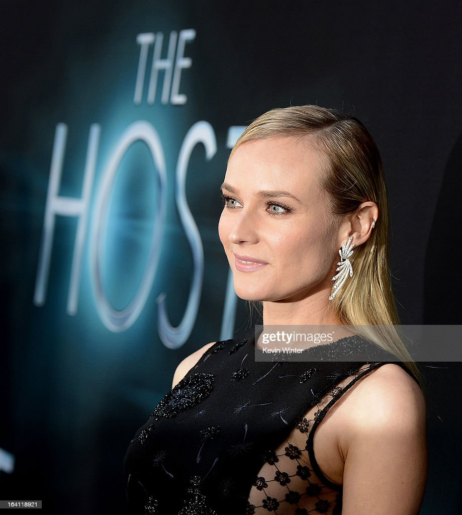 Actress <a gi-track='captionPersonalityLinkClicked' href=/galleries/search?phrase=Diane+Kruger&family=editorial&specificpeople=202640 ng-click='$event.stopPropagation()'>Diane Kruger</a> attends the premiere of Open Road Films 'The Host' at ArcLight Cinemas Cinerama Dome on March 19, 2013 in Hollywood, California.