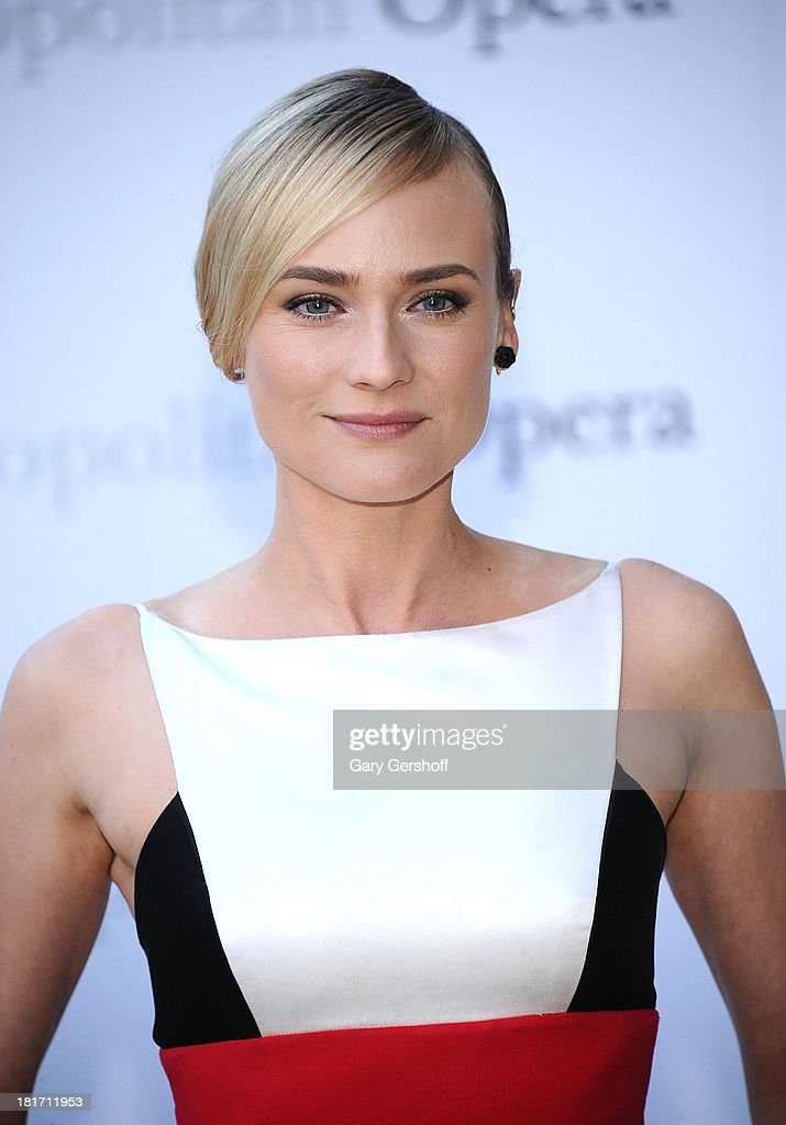 Actress Diane Kruger attends the season opening performance of Tchaikovsky's 'Eugene Onegin' at The Metropolitan Opera House on September 23, 2013 in New York City.