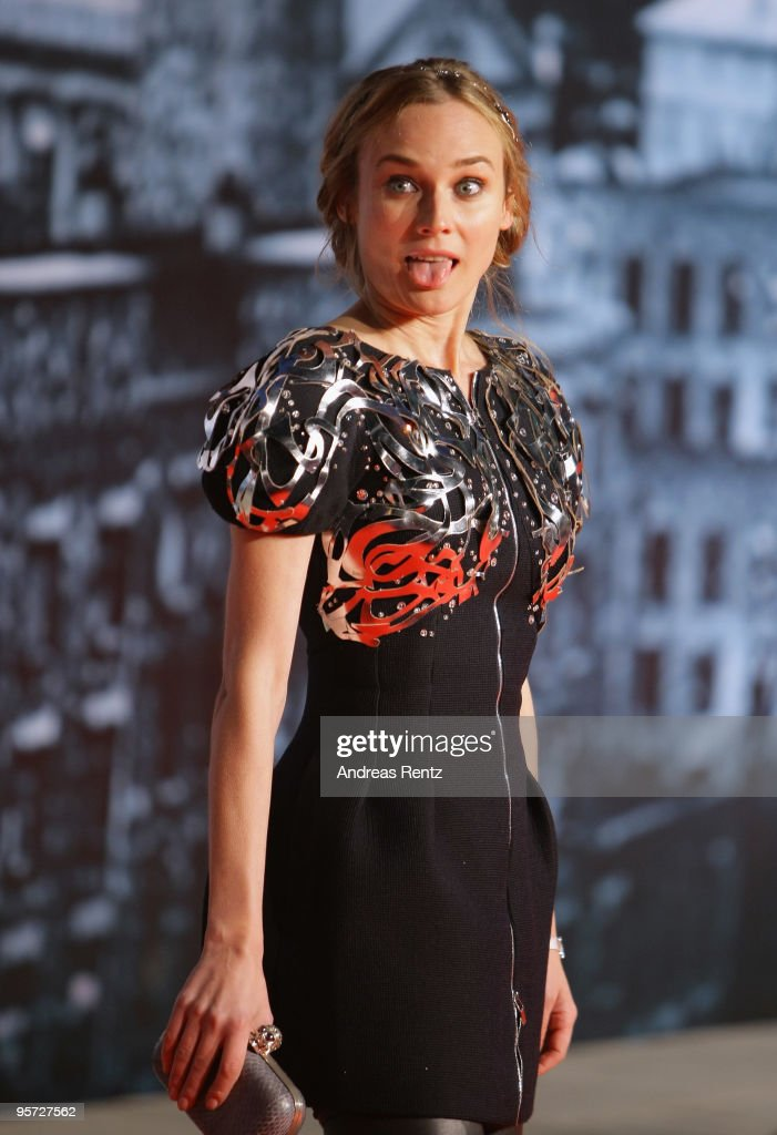 Actress <a gi-track='captionPersonalityLinkClicked' href=/galleries/search?phrase=Diane+Kruger&family=editorial&specificpeople=202640 ng-click='$event.stopPropagation()'>Diane Kruger</a> attends the 'Sherlock Holmes' German Premiere at CineStar on January 12, 2010 in Berlin, Germany.