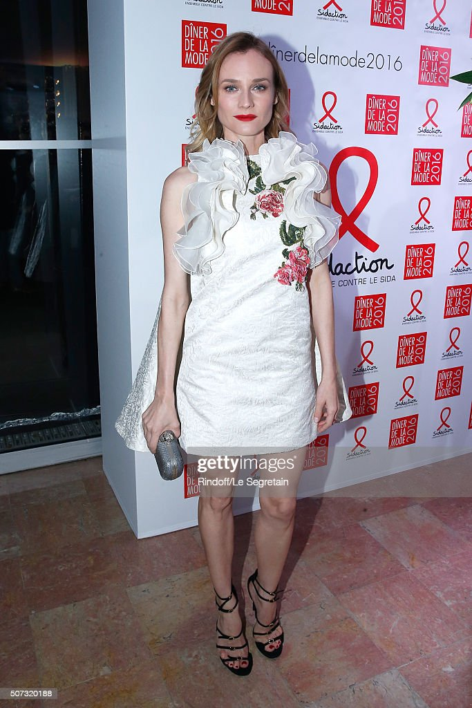 Actress <a gi-track='captionPersonalityLinkClicked' href=/galleries/search?phrase=Diane+Kruger&family=editorial&specificpeople=202640 ng-click='$event.stopPropagation()'>Diane Kruger</a> attends the Sidaction Gala Dinner 2016 as part of Paris Fashion Week. Held at Pavillon d'Armenonville on January 28, 2016 in Paris, France.