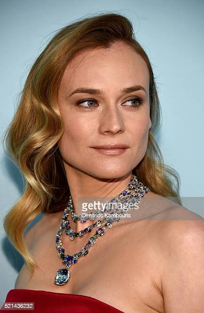 Actress Diane Kruger attends the Tiffany Co Blue Book Gala at The Cunard Building on April 15 2016 in New York City