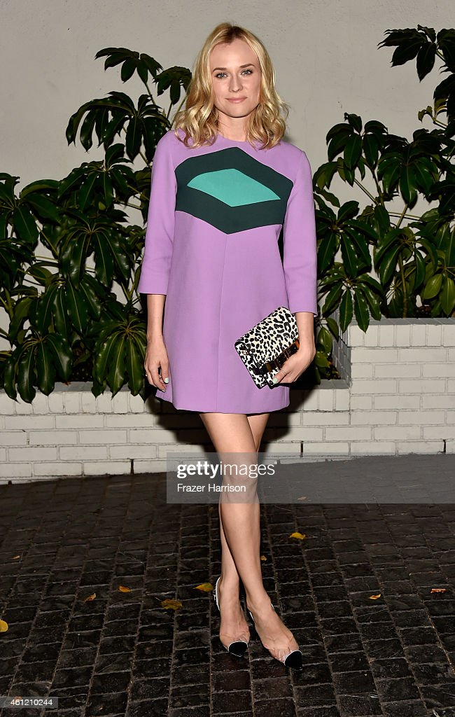Actress Diane Kruger attends the W Magazine celebration of the 'Best Performances' Portfolio and The Golden Globes with Cadillac and Dom Perignon at Chateau Marmont on January 8, 2015 in Los Angeles, California.