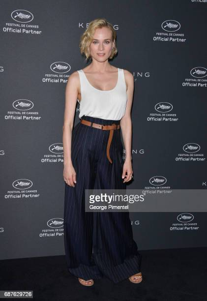 Actress Diane Kruger attends the Women In Motion Diane Kruger photocall during the 70th annual Cannes Film Festival at Majestic Hotel on May 24 2017...