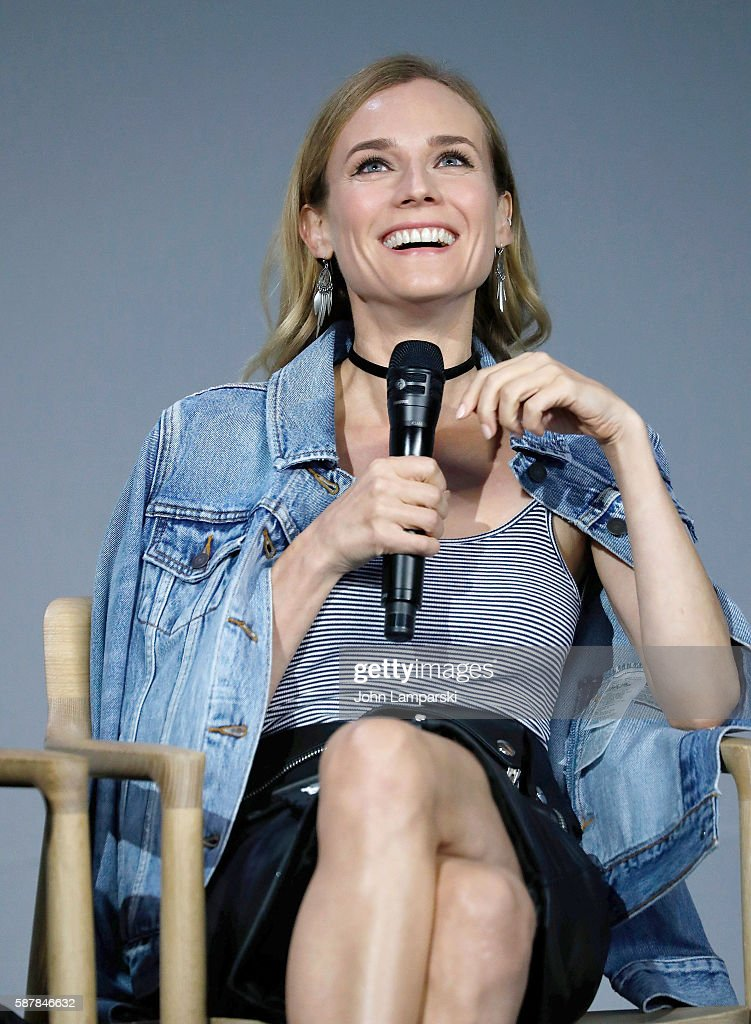 Actress Diane Kruger discusses the film 'Disorder' at the Apple Store Soho on August 9 2016 in New York City