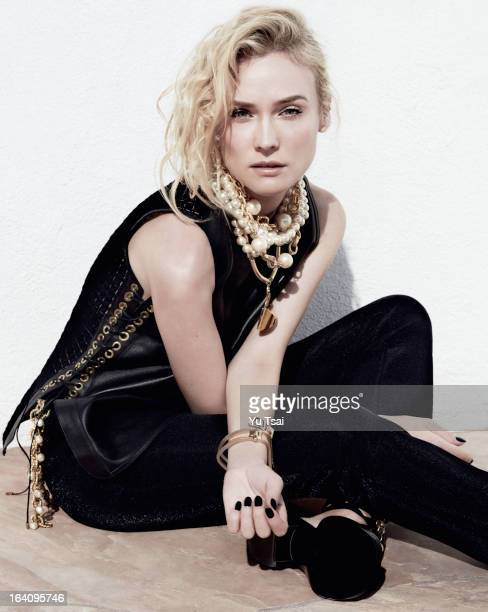 Actress Diane Kruger is photographed for Angeleno Magazine on December 11 2012 in Los Angeles California PUBLISHED IMAGE