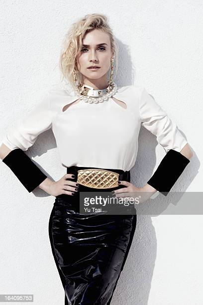 Actress Diane Kruger is photographed for Angeleno Magazine on December 11 2012 in Los Angeles California COVER IMAGE