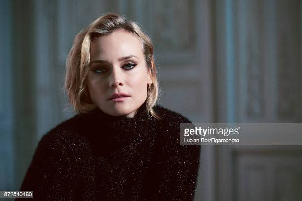 Actress Diane Kruger is photographed for Madame Figaro on September 7 2017 in Paris France Sweater Makeup by Dior CREDIT MUST READ Lucian...