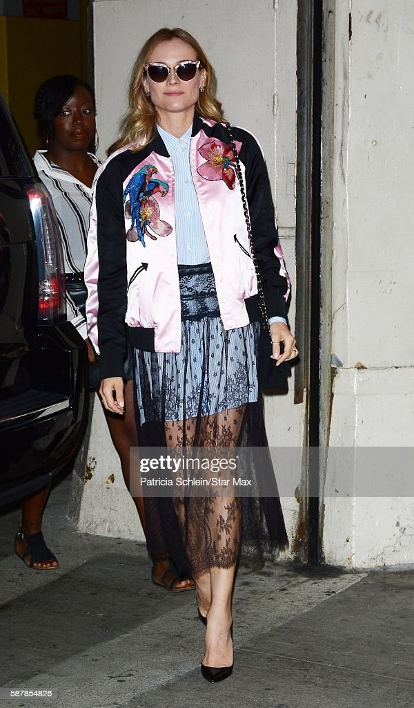 Actress Diane Kruger is seen on August 9 2016 in New York City