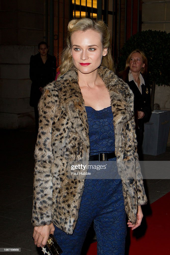 Actress Diane Kruger is seen on the 'Place Vendome' on November 20, 2012 in Paris, France.