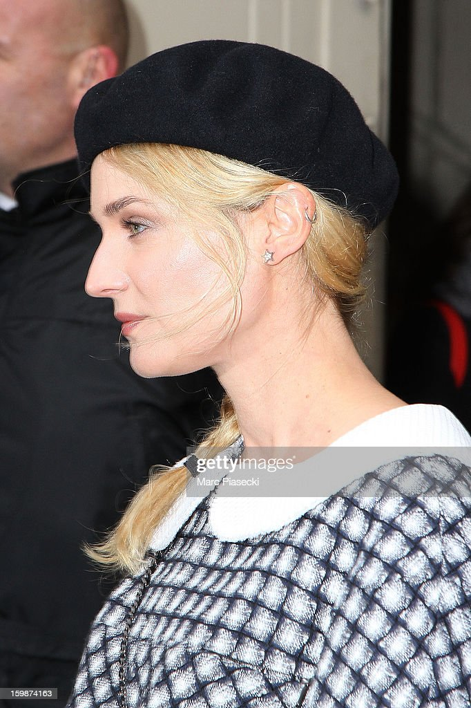 Actress <a gi-track='captionPersonalityLinkClicked' href=/galleries/search?phrase=Diane+Kruger&family=editorial&specificpeople=202640 ng-click='$event.stopPropagation()'>Diane Kruger</a> leaves the Chanel Spring/Summer 2013 Haute-Couture show as part of Paris Fashion Week at Grand Palais on January 22, 2013 in Paris, France.