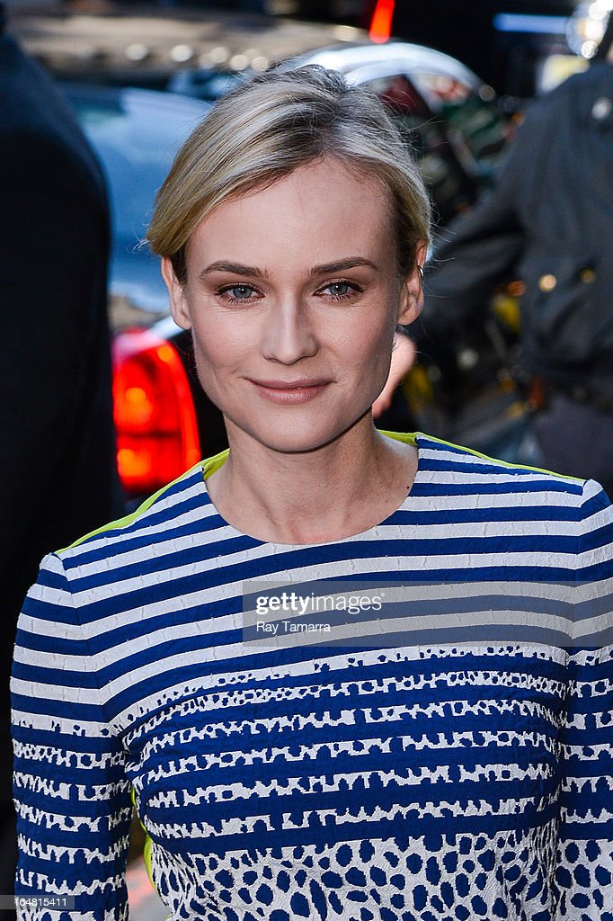 Actress Diane Kruger leaves the 'Good Morning America' taping at the ABC Times Square Studios on March 28, 2013 in New York City.