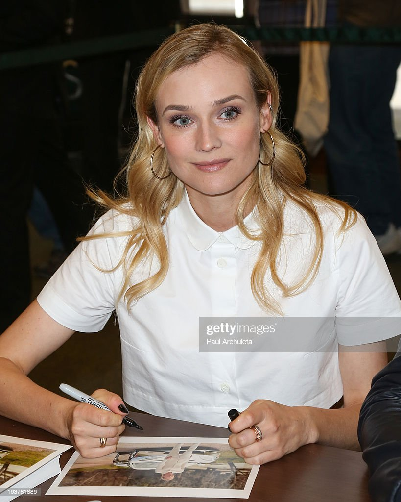 Actress Diane Kruger signs copies of 'The Host' at Barnes & Noble bookstore at The Grove on March 15, 2013 in Los Angeles, California.