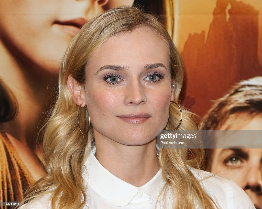 Actress <a gi-track='captionPersonalityLinkClicked' href=/galleries/search?phrase=Diane+Kruger&family=editorial&specificpeople=202640 ng-click='$event.stopPropagation()'>Diane Kruger</a> signs copies of 'The Host' at Barnes & Noble bookstore at The Grove on March 15, 2013 in Los Angeles, California.
