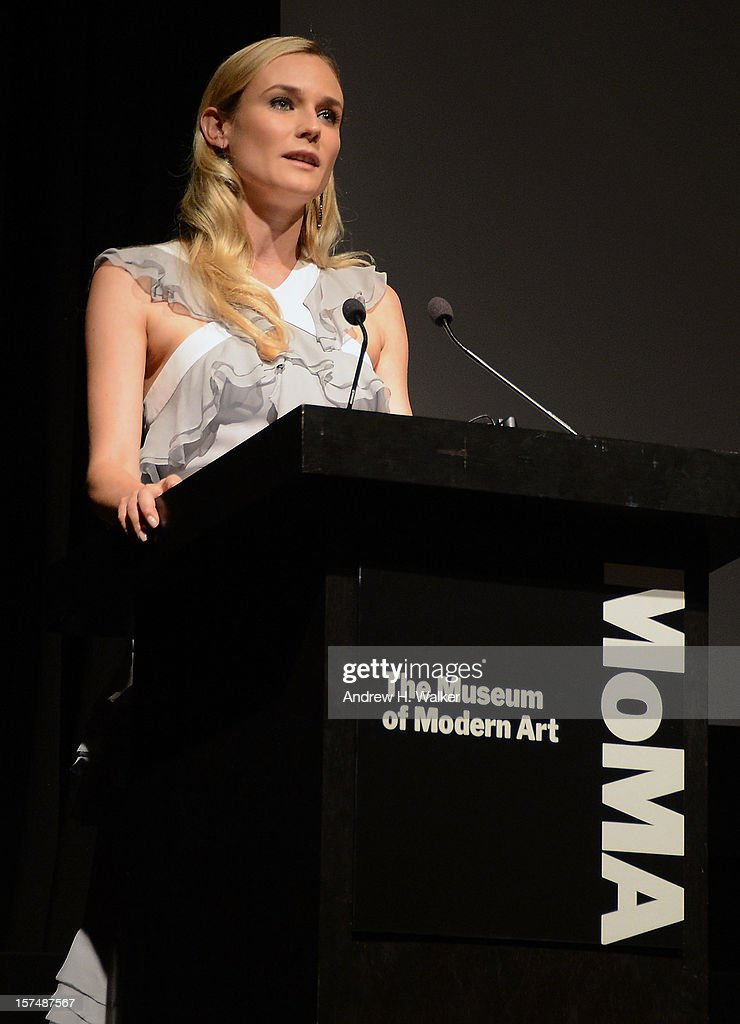 Actress Diane Kruger speaks at The Museum of Modern Art Film Benefit Honoring Quentin Tarantino at MOMA on December 3, 2012 in New York City.