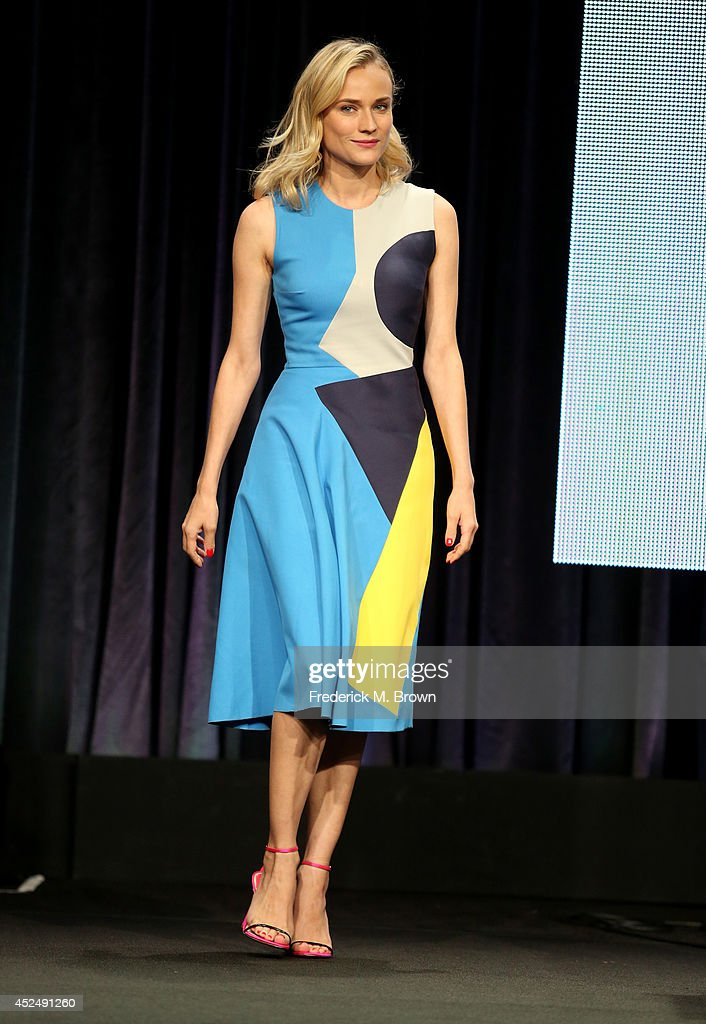 Actress <a gi-track='captionPersonalityLinkClicked' href=/galleries/search?phrase=Diane+Kruger&family=editorial&specificpeople=202640 ng-click='$event.stopPropagation()'>Diane Kruger</a> speaks onstage at 'The Bridge' panel during the FX Networks portion of the 2014 Summer Television Critics Association at The Beverly Hilton Hotel on July 21, 2014 in Beverly Hills, California.