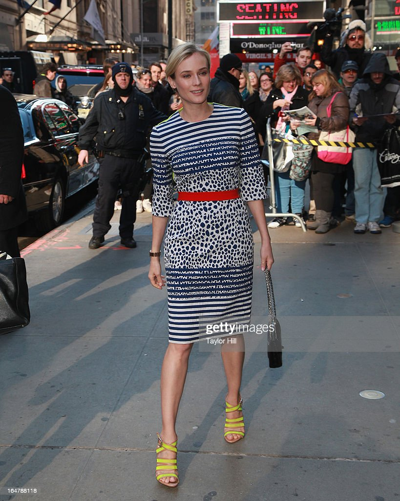 Actress Diane Kruger visits 'Good Morning America' at GMA Studios in Times Square on March 28, 2013 in New York City.