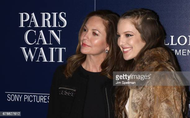 Actress Diane Lane and daughter Eleanor Lambert attend the Sony Pictures Classics' 'Paris Can Wait' screening hosted by The Cinema Society BNY Mellon...