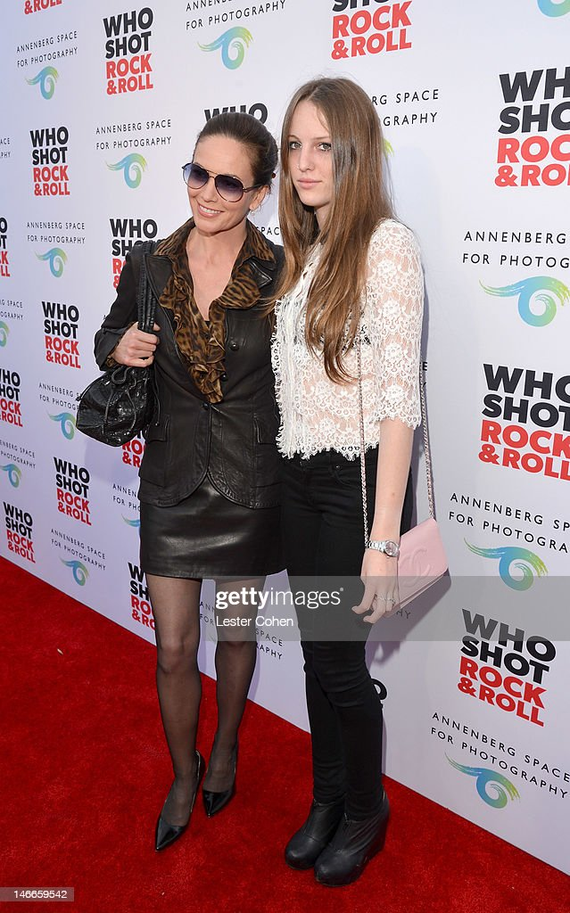 Actress Diane Lane (L) and daughter Eleanor Lambert attend the Who Shot Rock & Roll Opening Night VIP Reception at the Annenberg Space For Photography on June 21, 2012 in Century City, California.
