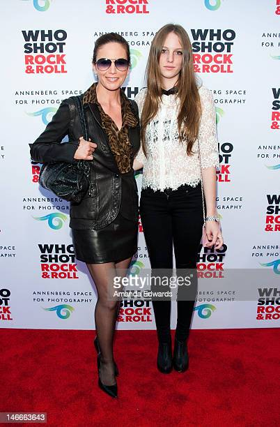 Actress Diane Lane and her daughter Eleanor Lambert arrive at the opening night party for 'Who Shot Rock Roll A Photographic History 1955Present' at...