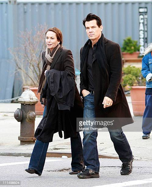Actress Diane Lane and husband actor Josh Brolin are seen on the Streets of Manhattan on April 2 2011 in New York City