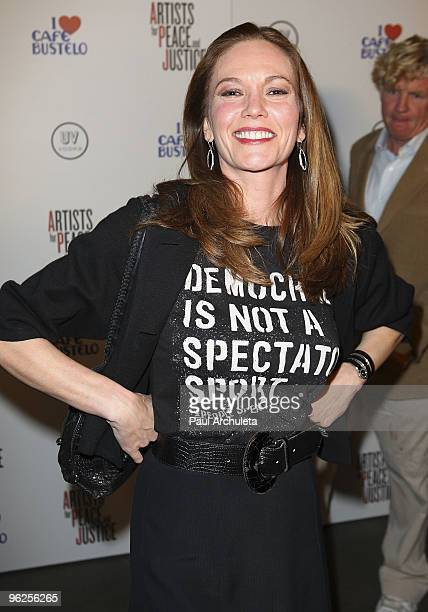 Actress Diane Lane arrives at the 'Artists For Haiti' Benefit at Bergamot Station on January 28 2010 in Santa Monica California