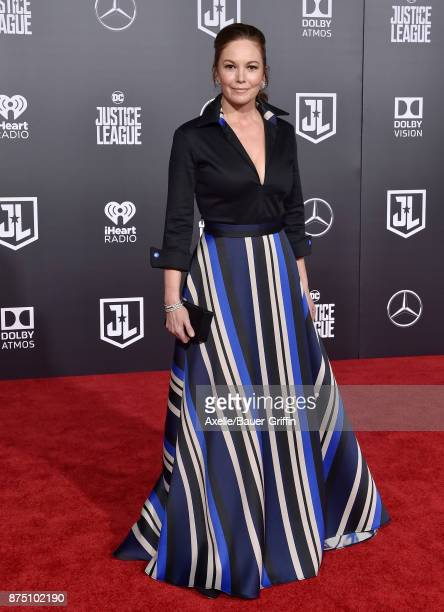 Actress Diane Lane arrives at the premiere of Warner Bros Pictures' 'Justice League' at Dolby Theatre on November 13 2017 in Hollywood California