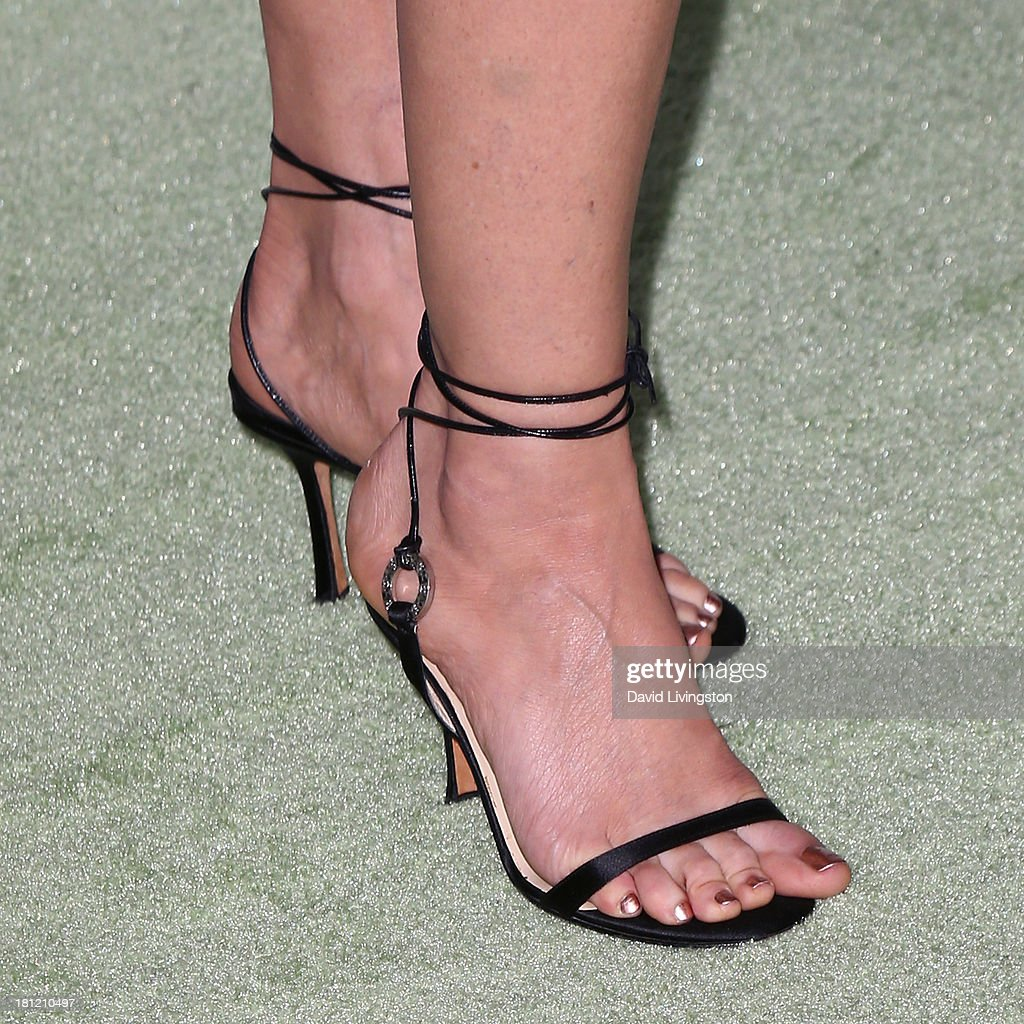 Actress Diane Lane (shoe detail) attends Heifer International's 'Beyond Hunger: A Place at the Table' gala at Montage Beverly Hills on September 19, 2013 in Beverly Hills, California.