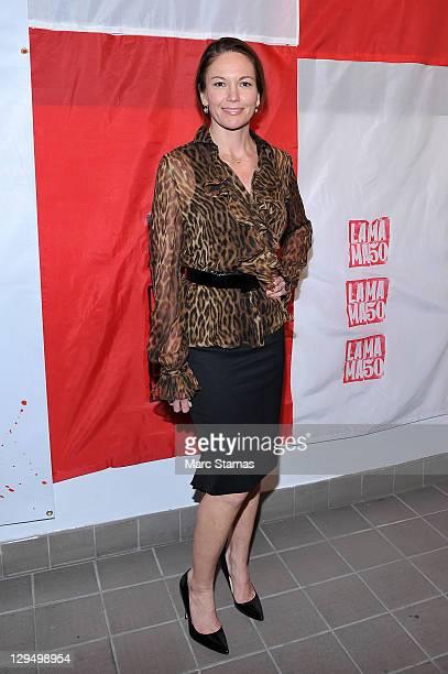 Actress Diane Lane attends La MaMa's 50 Anniversary Season gala at the Ellen Stewart Theatre on October 17 2011 in New York City