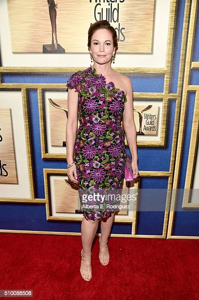 Actress Diane Lane attends the 2016 Writers Guild Awards at the Hyatt Regency Century Plaza on February 13 2016 in Los Angeles California