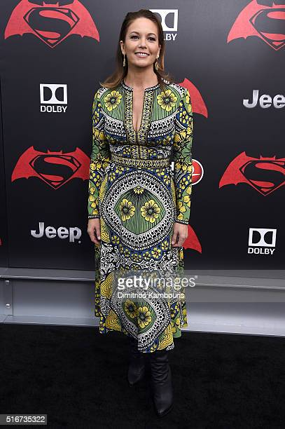Actress Diane Lane attends the 'Batman V Superman Dawn Of Justice' New York Premiere at Radio City Music Hall on March 20 2016 in New York City