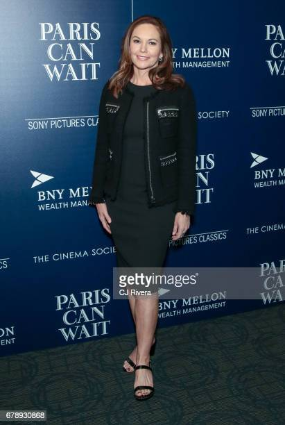 Actress Diane Lane attends The Cinema Society screening of Sony Pictures Classics' 'Paris Can Wait' at Landmark Sunshine Cinema on May 4 2017 in New...
