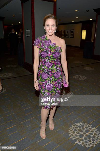Actress Diane Lane attends the Cocktail Reception before the 2016 Writers Guild Awards at the Hyatt Regency Century Plaza on February 13 2016 in Los...