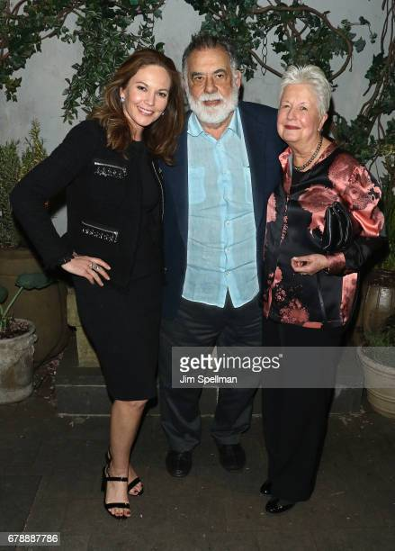 Actress Diane Lane directors Francis Ford Coppola and Eleanor Coppola attend Sony Pictures Classics' screening after party for 'Paris Can Wait'...