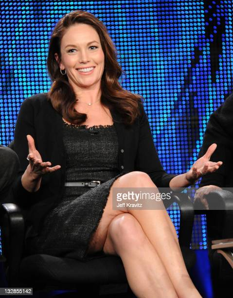 Actress Diane Lane speaks at the HBO Winter 2011 TCA Panel held at the Langham Hotel on January 7 2011 in Pasadena California