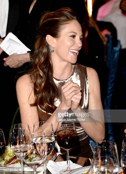Actress Diane Lane wearing Ferragamo attends the Wallis Annenberg Center for the Performing Arts Inaugural Gala presented by Salvatore Ferragamo at...