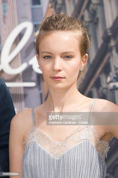 Actress Diane Rouxel attends the Jury Revelations Photocall at the Kielh's Club during the 42nd Deauville American Film Festival on September 3 2016...