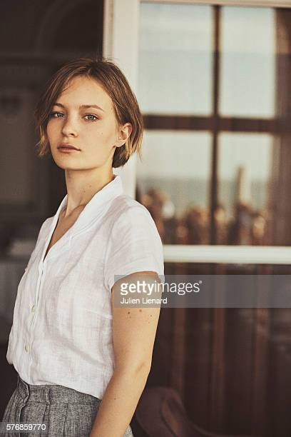 Actress Diane Rouxel is photographed for Self Assignment on June 11 2016 in Cabourg France