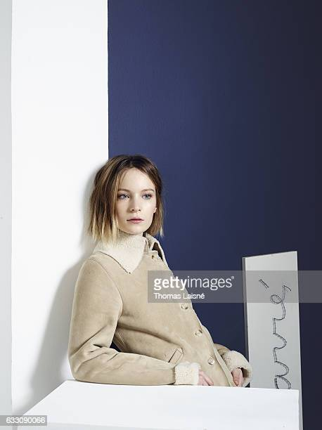 Actress Diane Rouxel is photographed for Self Assignment on November 3 2016 in Paris France