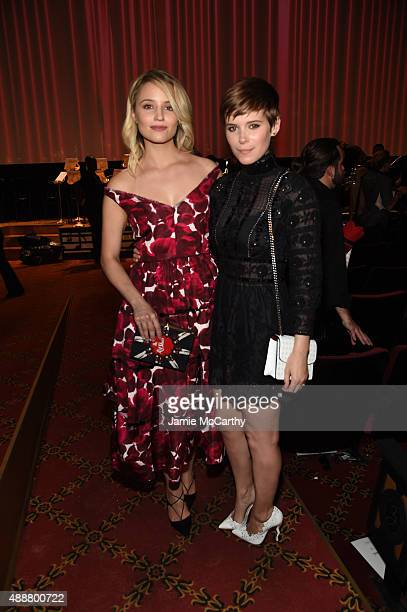 Actress Dianna Agron and Kate Mara attend the Marc Jacobs Spring 2016 fashion show during New York Fashion Week at Ziegfeld Theater on September 17...