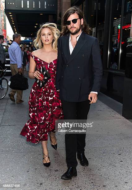 Actress Dianna Agron and musician Winston Marshall are seen at Marc Jacobs fashion show during Spring 2016 New York Fashion Week on September 17 2015...