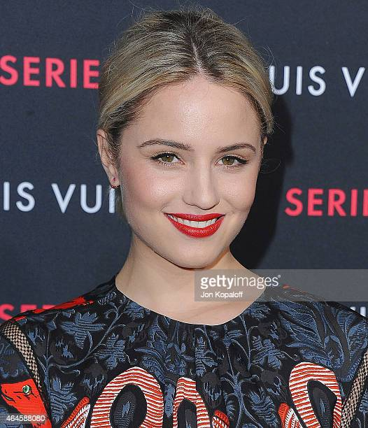 Actress Dianna Agron arrives at Louis Vuitton 'Series 2' The Exhibition on February 5 2015 in Hollywood California