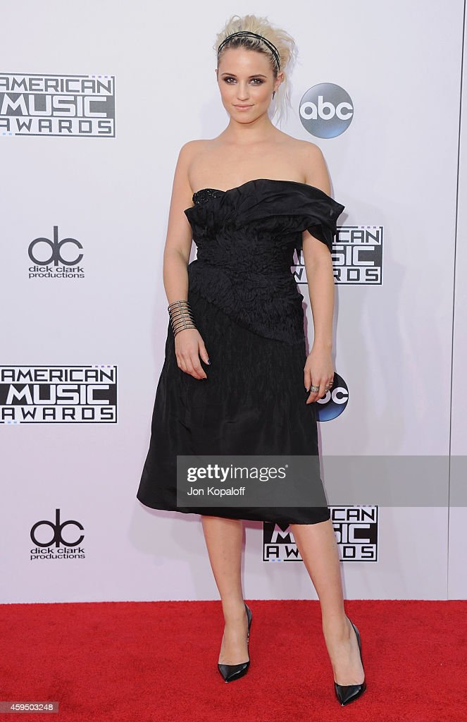 Actress Dianna Agron arrives at the 2014 American Music Awards at Nokia Theatre LA Live on November 23 2014 in Los Angeles California