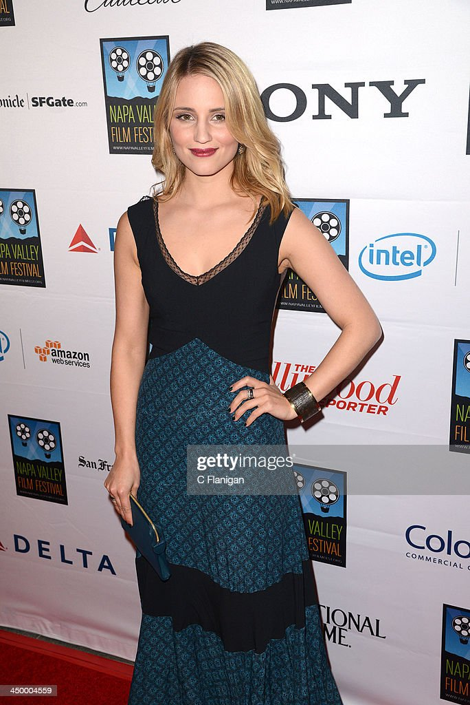 Actress <a gi-track='captionPersonalityLinkClicked' href=/galleries/search?phrase=Dianna+Agron&family=editorial&specificpeople=4439685 ng-click='$event.stopPropagation()'>Dianna Agron</a> arrives at the Napa Valley Film Festival Celebrity Tribute on November 15, 2013 in Napa, California.